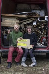 Muotoilija Teemu Salonen, tekstiiliartesaani Kati Joki, 2012